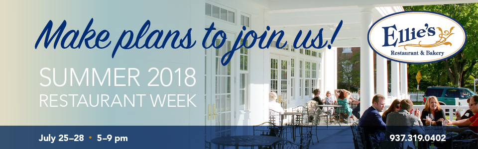 Ellie's: Make plans to join us for Dayton Restaurant Week 2018