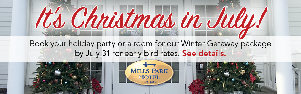 It's Christmas in July - book your Winter Getaway by July 31